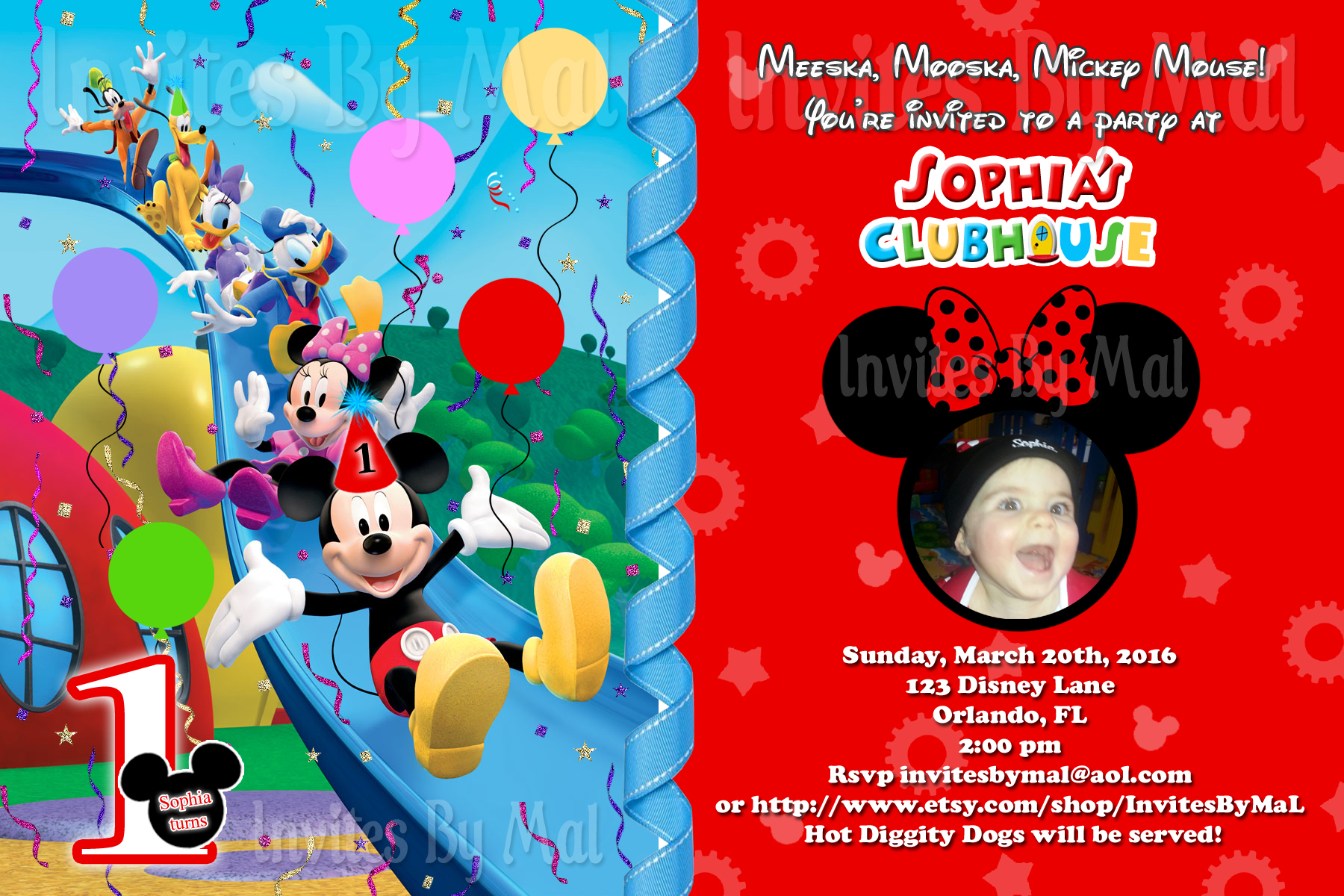 Mickey Mouse Themed Birthday Party Invitation Wording Clubhouse