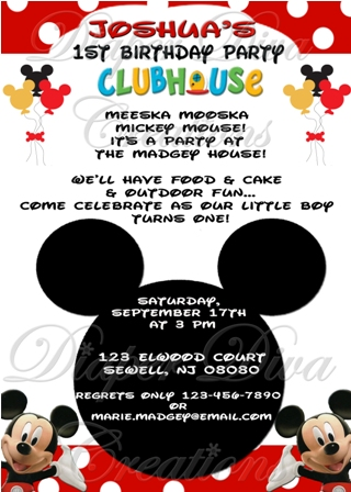 mickey mouse themed birthday party invitation wording ; MickeyMouseClubhouseInvitation