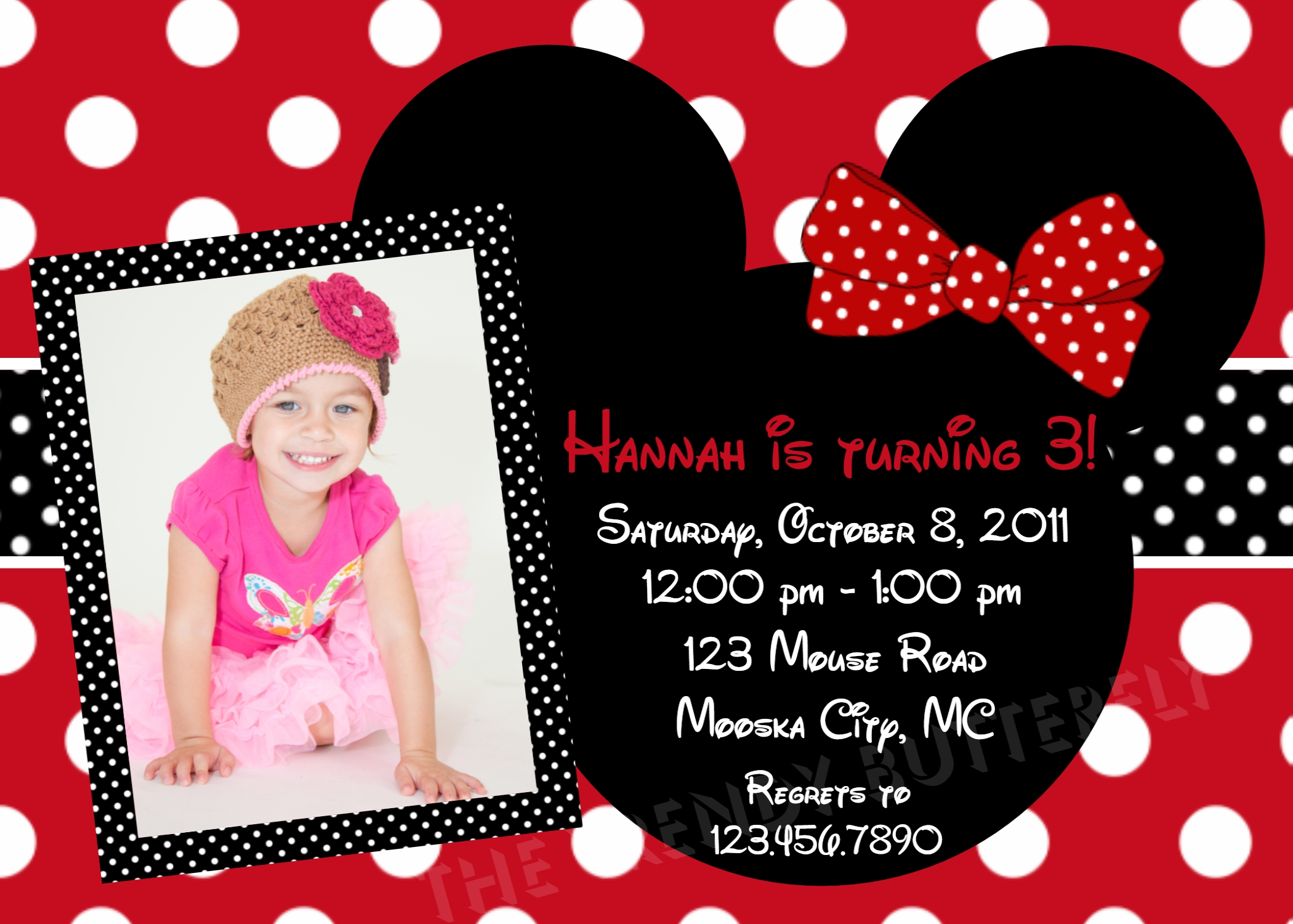 mickey mouse themed birthday party invitation wording ; Red-Minnie-Mouse-Birthday-Invitations-combined-with-your-creativity-will-make-this-looks-awesome-1