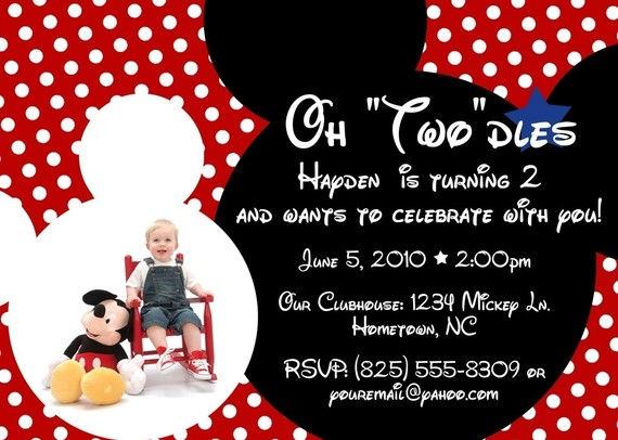 mickey mouse themed birthday party invitation wording ; a79821a60e46771f90dfff37eaf917ea