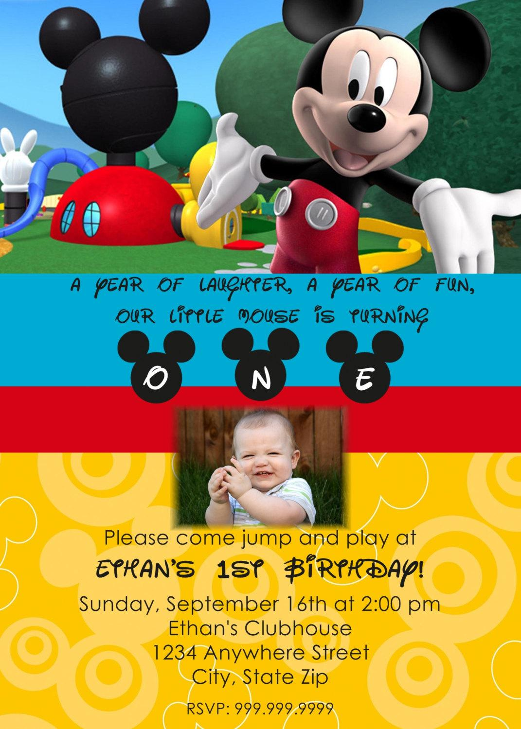 mickey mouse themed birthday party invitation wording ; mickey-mouse-clubhouse-birthday-invitation-wording