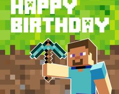 minecraft happy birthday card template printable ; 17ef3fbb030216e6f646a1b3be9139e0--backdrop-design-party-backdrops