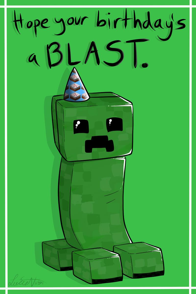 minecraft happy birthday card template printable ; 20ed882e0dbd06994b927e95e8f1d47d
