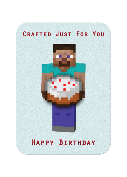 minecraft happy birthday card template printable ; 272bad01b42580b4ef498a68febadc36