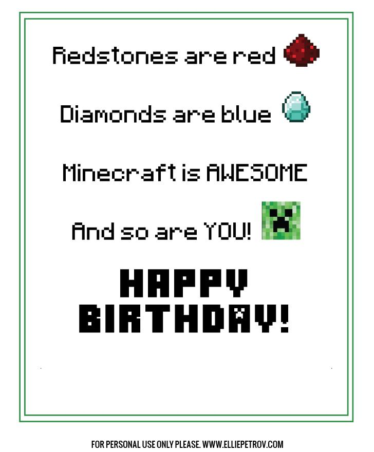 minecraft happy birthday card template printable ; 4624112ad4c70a04a3a44c56bb9c4038