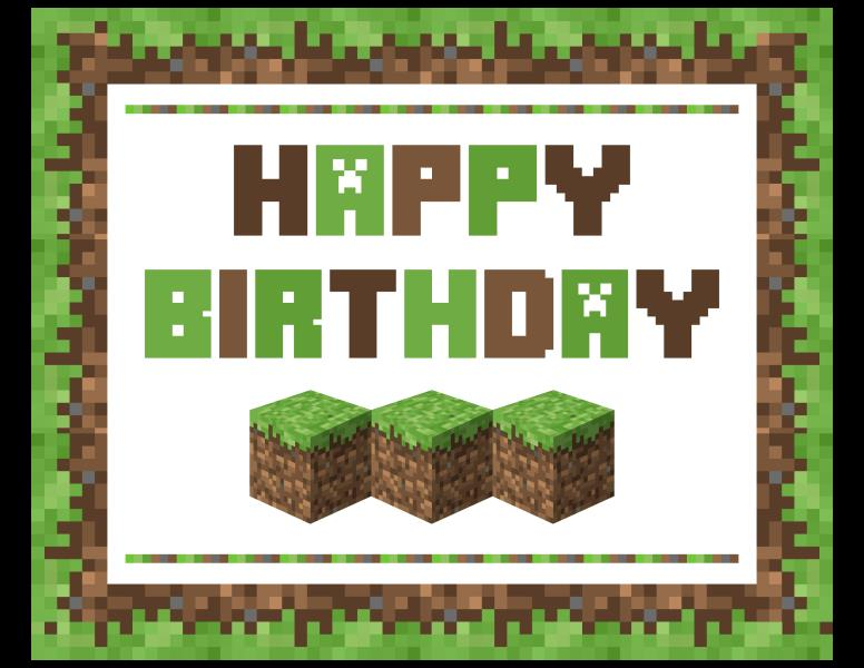 minecraft happy birthday card template printable ; a21ddc754902f654148ca14665ec7ad8