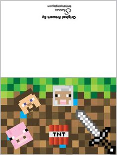 minecraft happy birthday card template printable ; a4a279d7a1f634faa1db3633717b6bc3--minecraft-birthday-party-th-birthday
