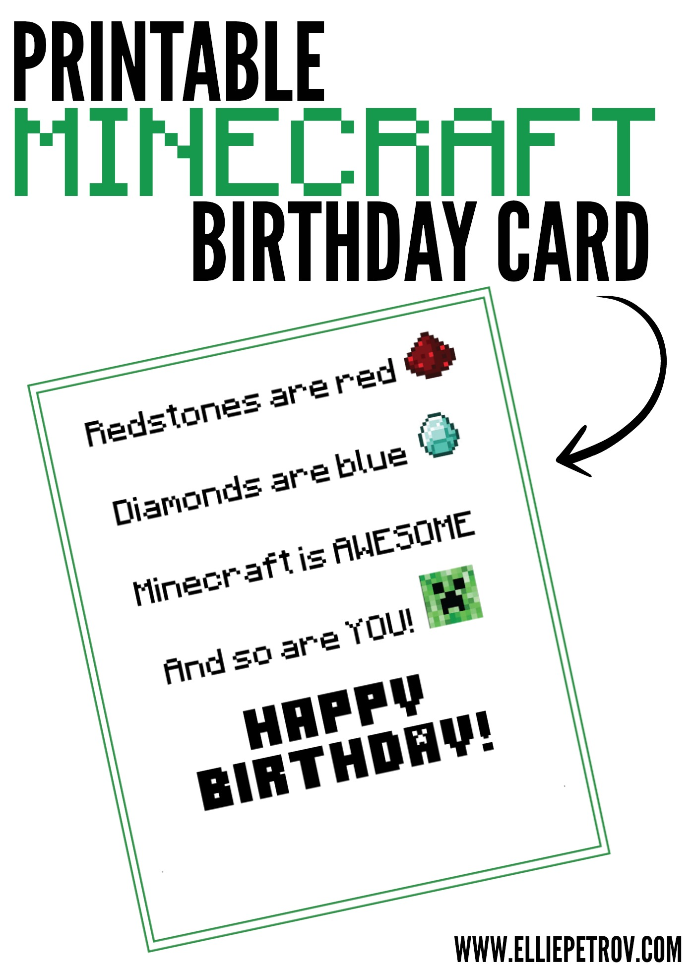 minecraft happy birthday card template printable ; b199f9be73987d477b6ecf6dcb45bbc8