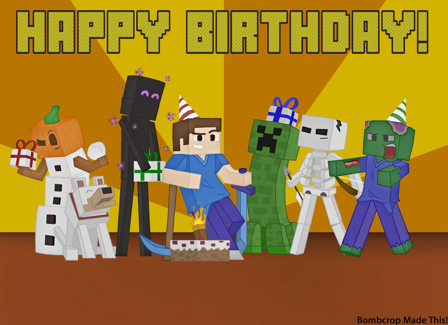 minecraft happy birthday card template printable ; e89b5143dc2fd8d0affbb692a9907823