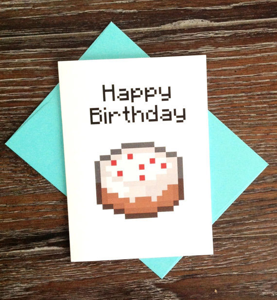 minecraft happy birthday card template printable ; minecraft-gift-card