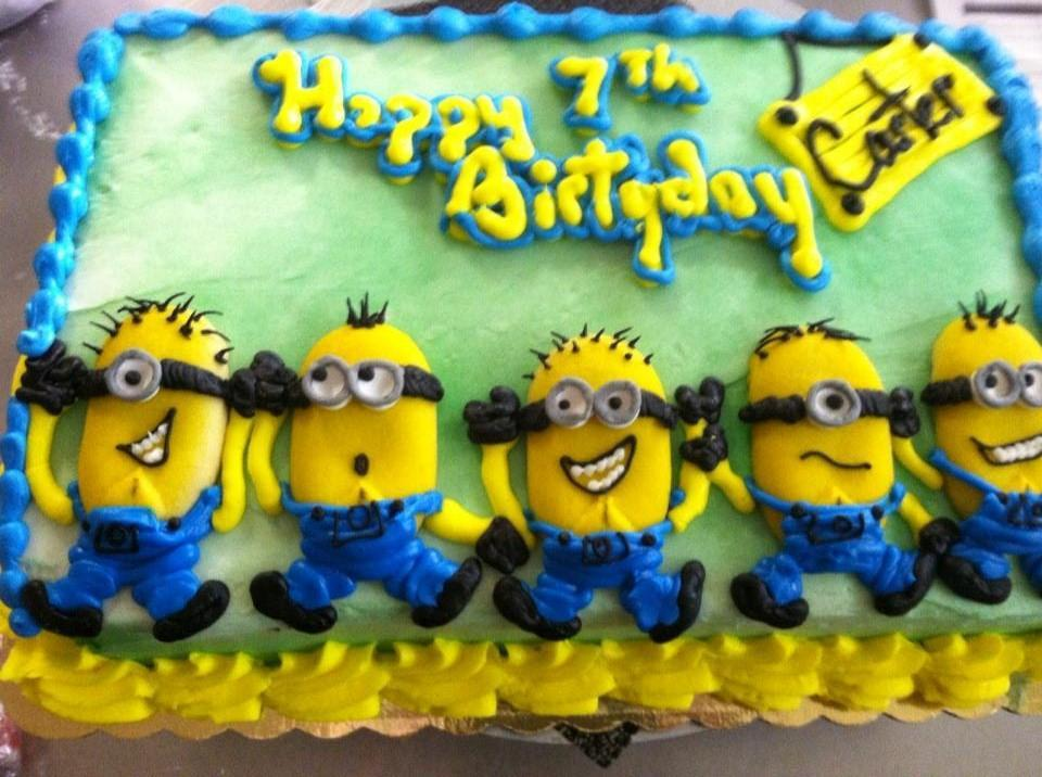 minion birthday sheet cake ; 01df2170e04f5827c13061b45b5b441f