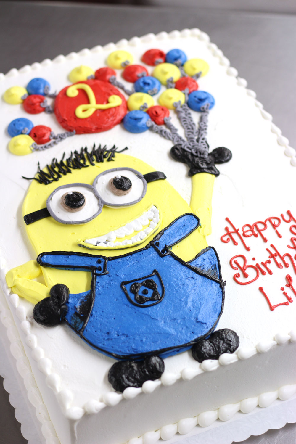 minion birthday sheet cake ; 4238-buttercream-minion-balloon
