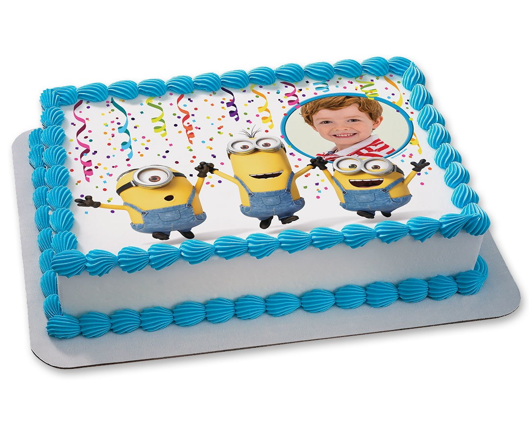 minion birthday sheet cake ; 6079_l