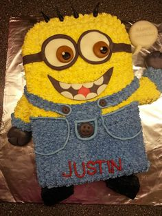 minion birthday sheet cake ; 6c86e110724e69ecd8c545034fef3973