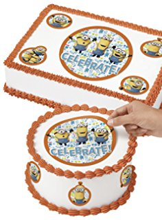 minion birthday sheet cake ; 71HMkPQqWrL