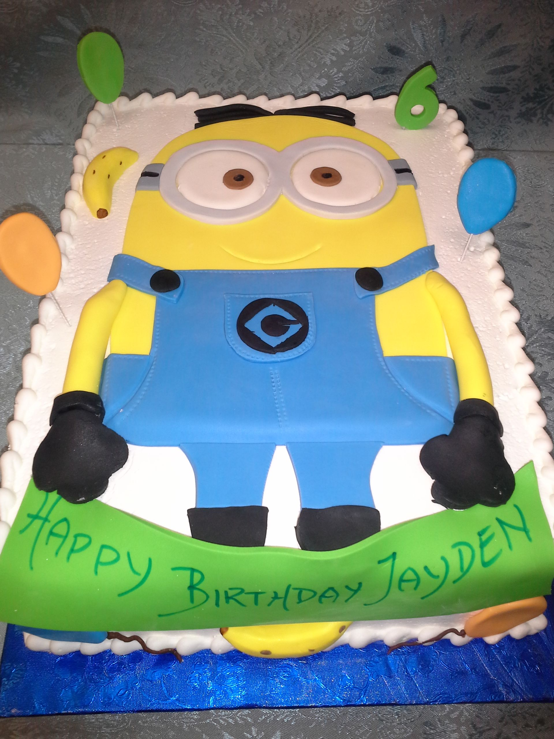 minion birthday sheet cake ; Flat%2520Minion