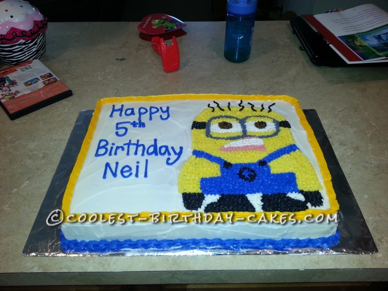 minion birthday sheet cake ; awesome-minion-cake-for-5-year-old-69094-800x600