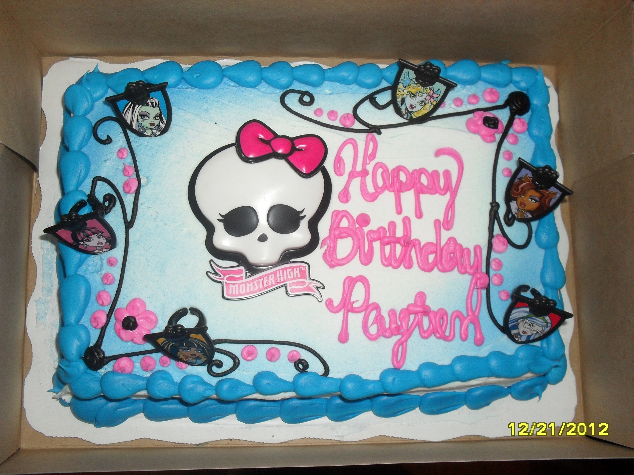 monster high birthday sheet cake ; 03977a839bff953ee8d697cdf162df0c