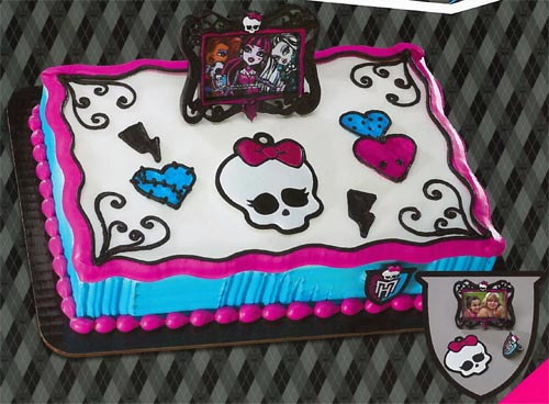 monster high birthday sheet cake ; 0dd23615889547d036ebcdd6d7706211