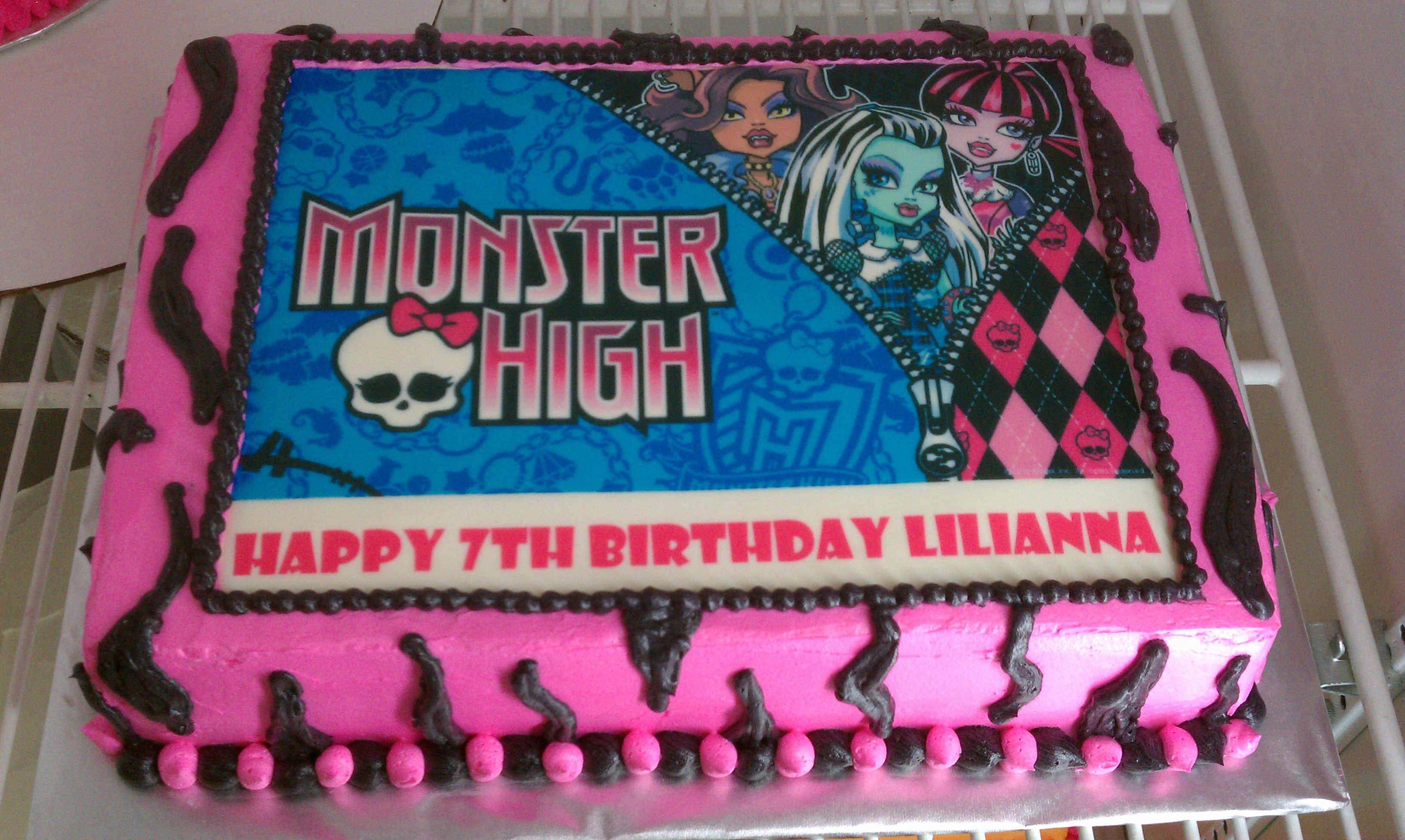 monster high birthday sheet cake ; Monster-High-Cake-Topper