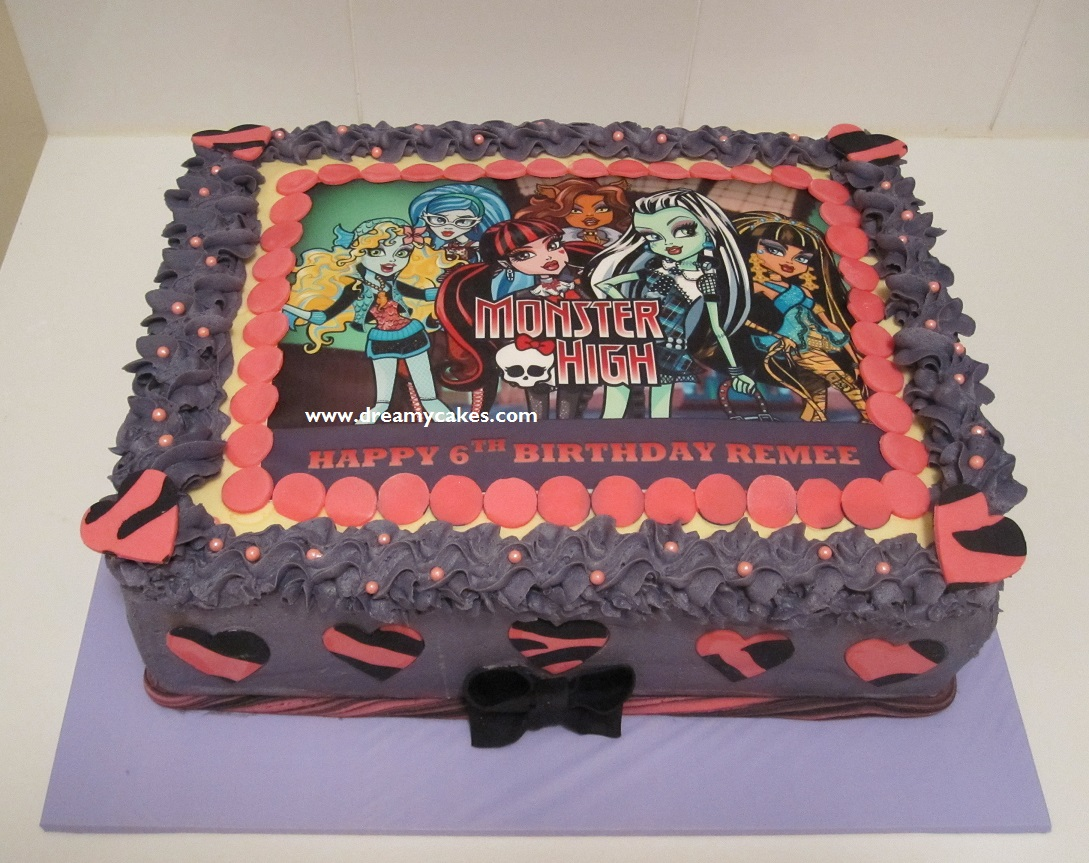 monster high birthday sheet cake ; Monster-high-cake