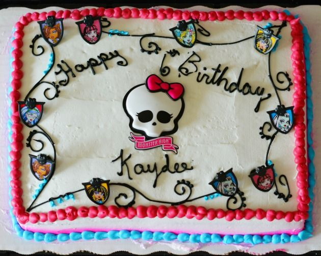 monster high birthday sheet cake ; birthday-cake-walmart-best-25-walmart-cake-designs-ideas-on-pinterest-sheet-cakes-dessert
