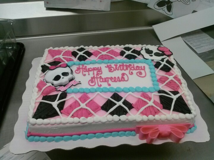 monster high birthday sheet cake ; fc684efae3dfdb9fc1ccf915276f9274