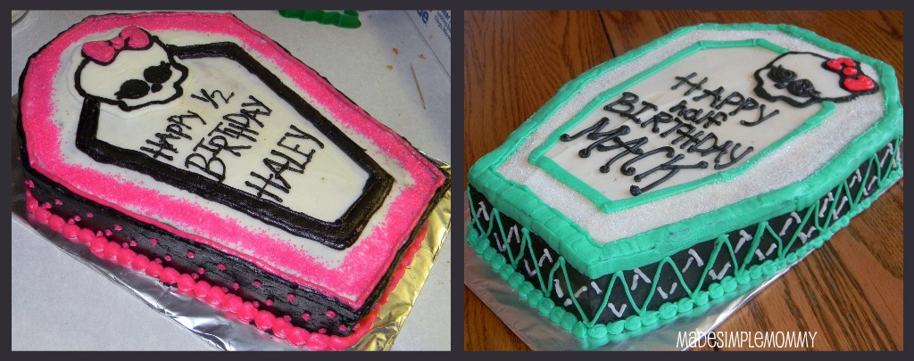 monster high birthday sheet cake ; mh2