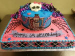 monster high birthday sheet cake ; monster%2520high%25202%2520cake