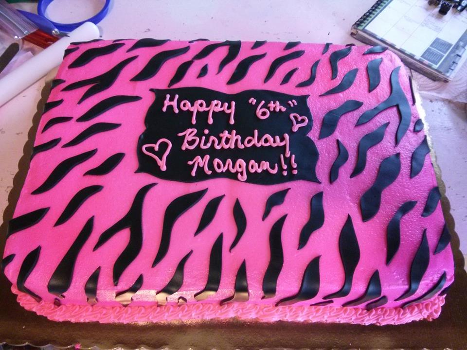 monster high birthday sheet cake ; zebracake
