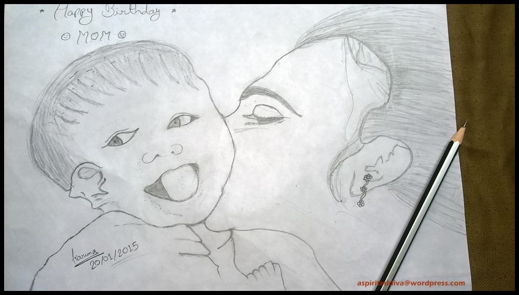 mother's birthday drawings ; sketch-2