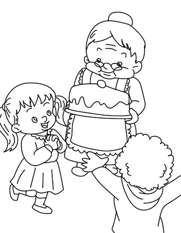 my birthday drawing ; Celebrate-My-Birthday-with-Grandmother-Coloring-Pages