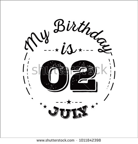 my birthday drawing ; stock-vector-my-birthday-is-july-1011842398