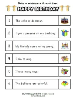my birthday worksheet ; hb-pic9