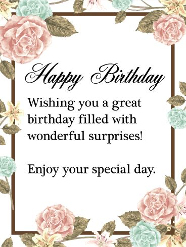 on the border birthday special ; birthday-quotes-enjoy-your-special-day-birthday-wish-card-this-beautiful-happy-birthday-card-i