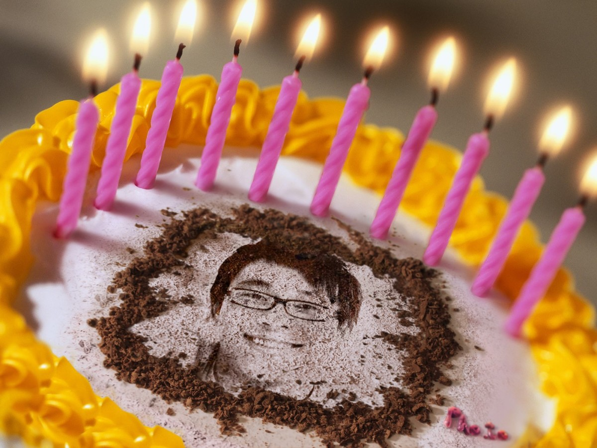 on the border birthday special ; photo-special-one-birthday-cakes-with-names-collection-pink-and-yellow-colors-border