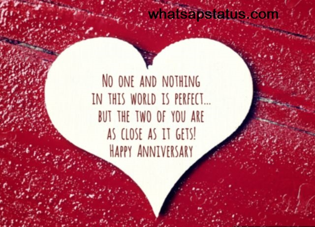 one liner thank you message for birthday wishes ; Happy-anniversary-to-perfect-couple-heart-greeting-card-shape