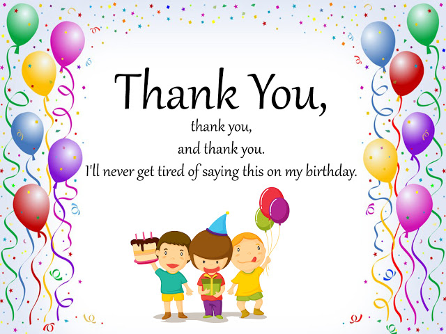 one liner thank you message for birthday wishes ; Thank-You