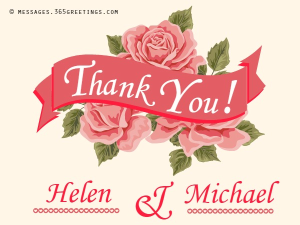 one liner thank you message for birthday wishes ; wedding-thank-you-notes
