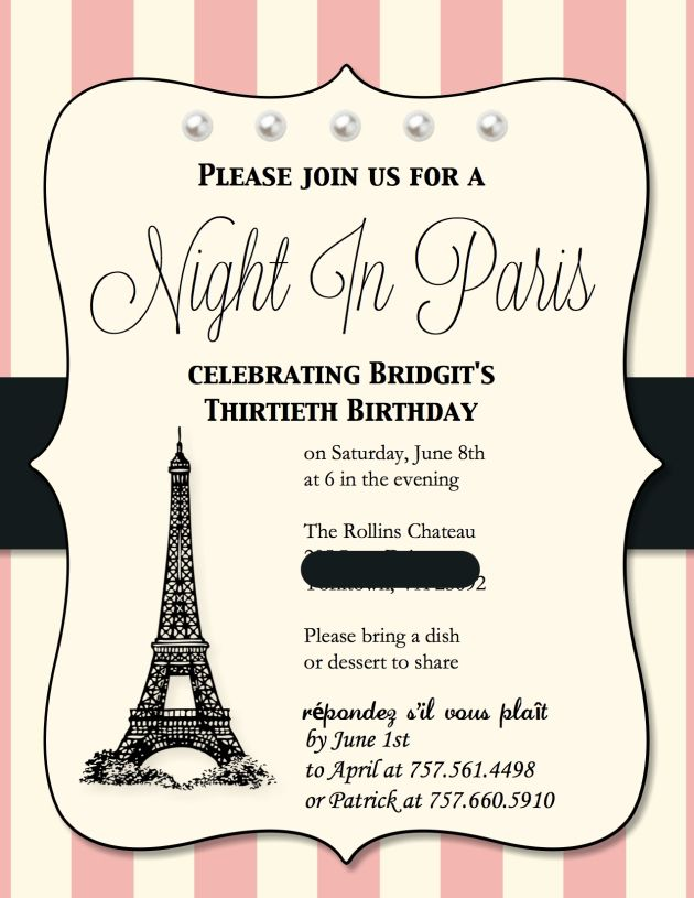paris themed birthday party invitation wording ; paris-themed-birthday-invitations-to-inspire-you-how-to-make-the-Birthday-invitation-look-bewitching-1