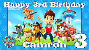 paw patrol birthday banner with photo ; s-l300