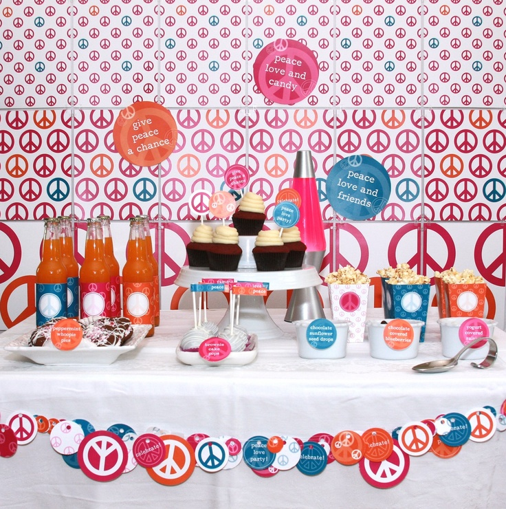 peace sign happy birthday images ; 0747707bb73aa7a7f426d8b8302a9bb6--hippie-party-paper-cake