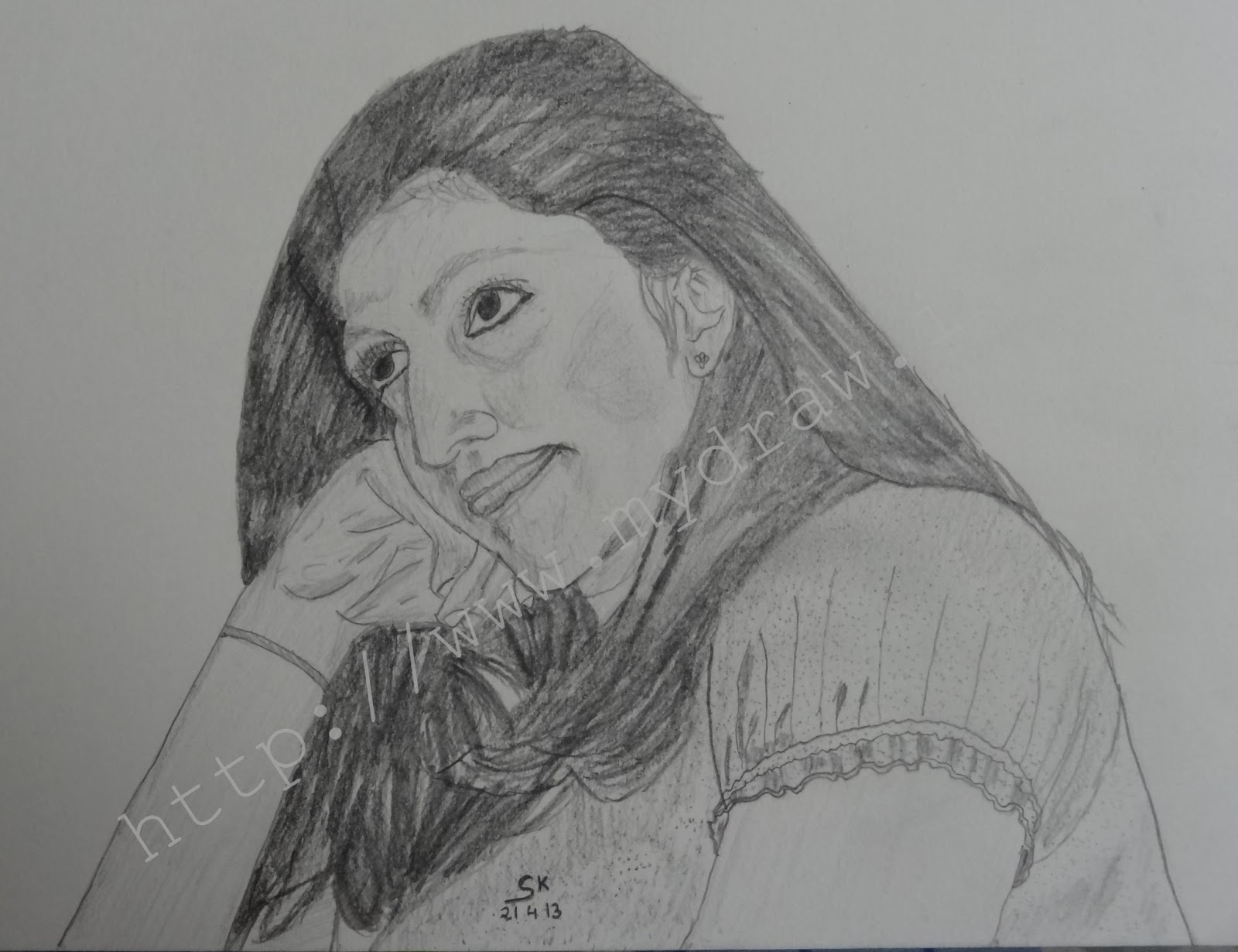 pencil drawings for birthday ; Pencil+Sketches+-+5+-+Watermark