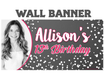 personalised birthday banners with photos ; il_340x270