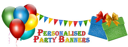 personalised birthday banners with photos ; logo
