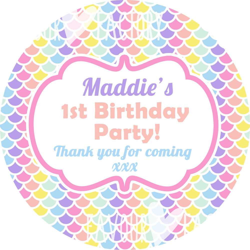 personalised birthday labels ; 1000x1000