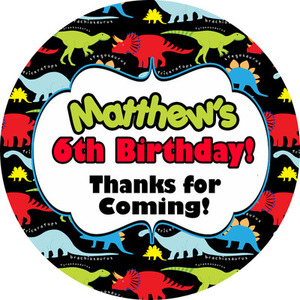 personalised birthday labels ; 300x300