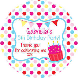 personalised birthday labels ; 303x303