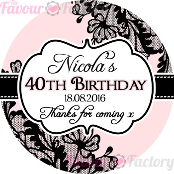 personalised birthday labels ; 350x350