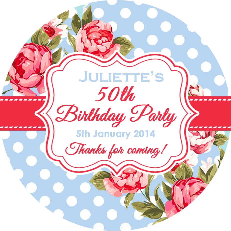 personalised birthday labels ; 925x925